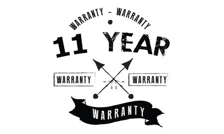 11 year warranty illustration design stamp Illusztráció