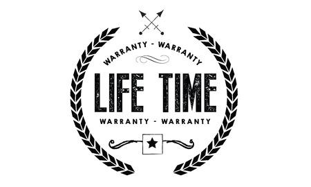 lifetime warranty illustration design stamp badge icon