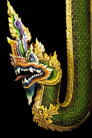 nagas dragon in black background photo