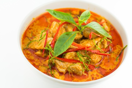 Thai Food Red Curry Panang
