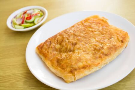 southern flat bread or crispy roti photo