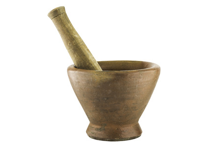 Stone mortar isolated