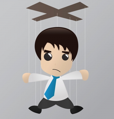 businessman man puppet doll Vector