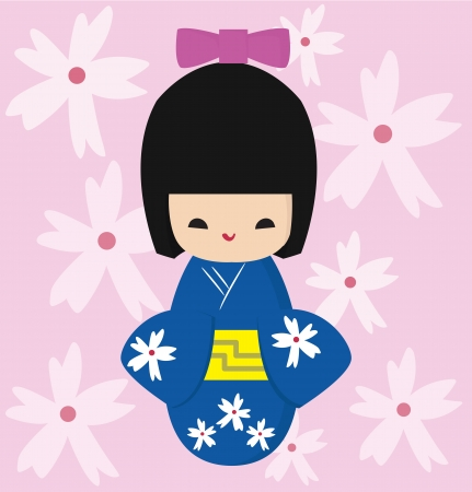 favorite japan doll Vector