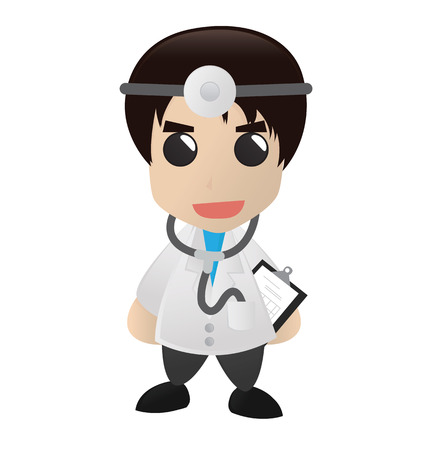 boy doctor: Cute Doctor Cartoon