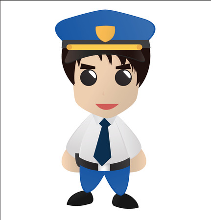 catoon: Cute Police Catoon Vector