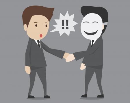 fake businessman agreement Illustration