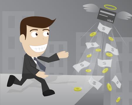hopeful: businessman money credit