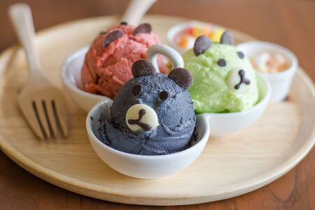 cartoons sweet: Ice cream cartoon concept Stock Photo