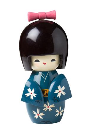 doll: kokeshi dolls isolated on white