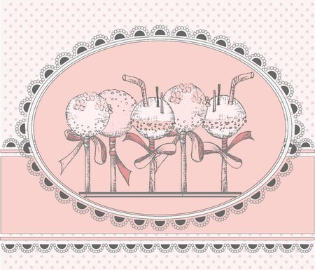 Vector greeting Card with Cakepops 向量圖像