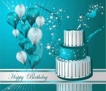 Vector Illustratie van een Gelukkige Verjaardag