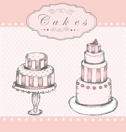 Background with cakes