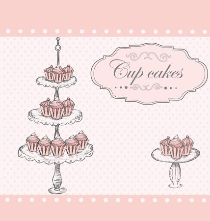 cup cakes: Fondo con las tortas de la Copa