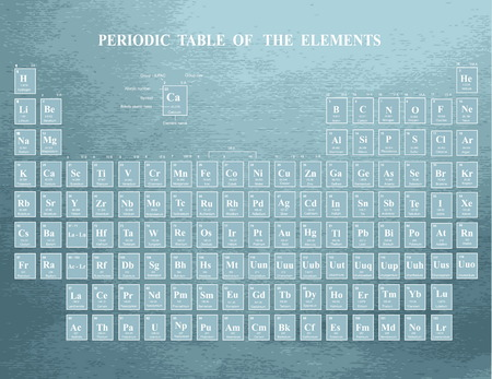 Periodic Table of the Elements  on blue background 向量圖像