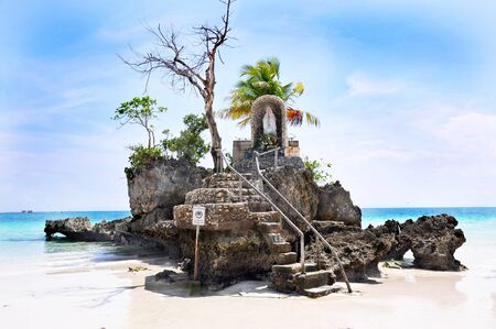 Willy's rock on island Boracay, Philippines