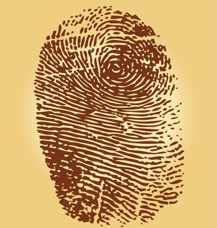 Fingerprints, vector illustration isolated on vintage background