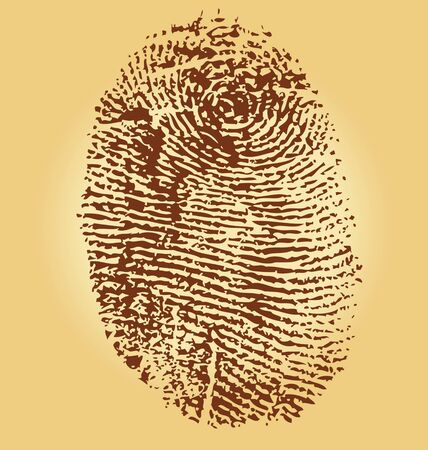 antiquities: Fingerprints, vector illustration isolated on vintage background