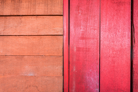 Background textures or old wooden wallpapers laid the vertical and horizontal, red and orange painted in retro style. Banque d'images