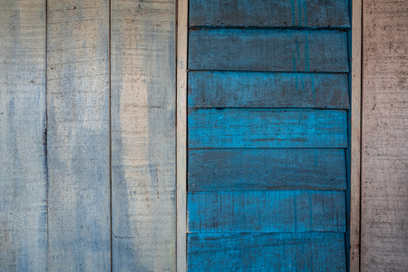Background textures or old wooden wallpapers laid the vertical and horizontal, blue and gray  painted in retro style.