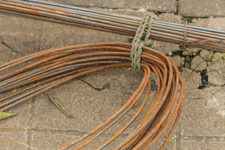 rusty wire: rusty wire iron Stock Photo