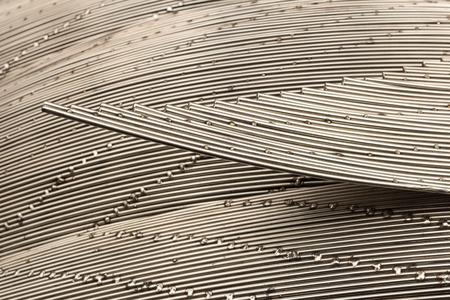 surface of steel weld, art of wire solder Stock Photo