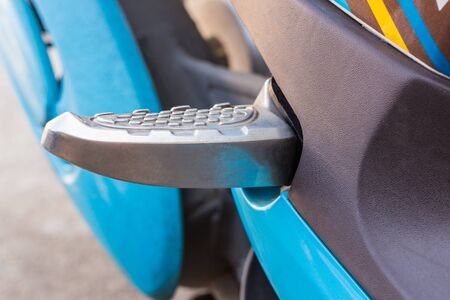 malleable: selected focus at the footpegs of motorcycle.