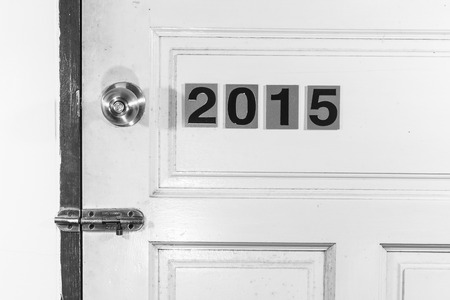 fifteen year old: open the old 2014 door to new life in 2015, leave every thing bad in 2014 and move to new good thing in 2015