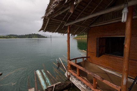 Khao Sok National Park, Mountain and Lake in Southern Thailand,rainy season Imagens