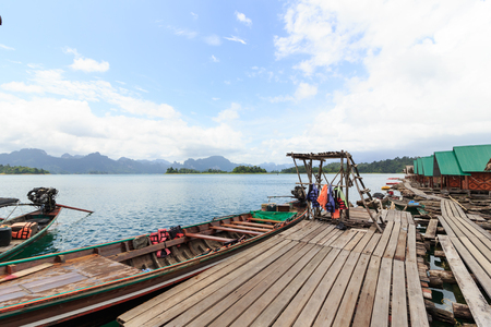 Khao Sok National Park, Mountain and Lake in Southern Thailand.