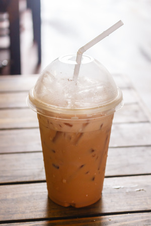 iced coffee , iced tea in the cafe Imagens
