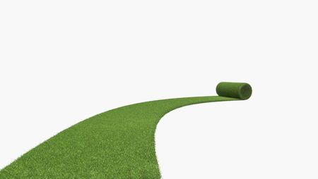 lawn grass: 3D grass isolated on white background Stock Photo