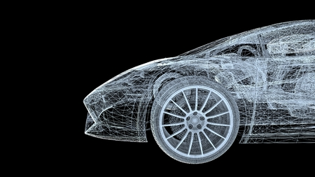Car blueprint stock photos royalty free car blueprint images car model body structure wire model 3d rendering malvernweather Gallery