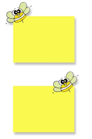 note pad: Yellow memo stick isolated on white background  Stock Photo