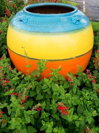 earthen: Colorful grande vaso di terracotta