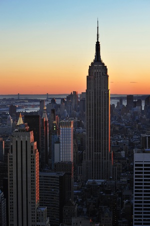 empire state building during sunset, new york city Stock Photo - 10183417