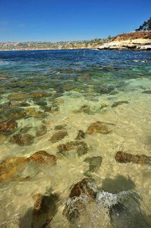 rock beach from La Jolla Cove, San Diego