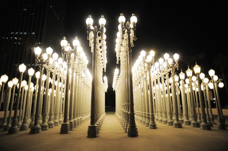 museum: urban light at los angeles museum of art