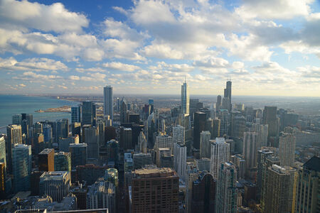 tall buildings in chicago, illinois Stock Photo