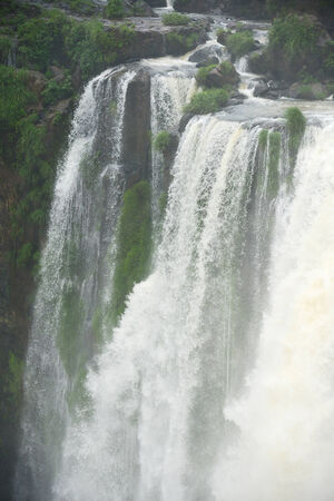 massive: a massive flow of water at Iguassu waterfall