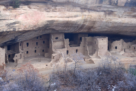 ancient ruin at Mesa Verde National Park in Colorado photo