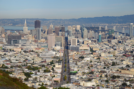 san francisco as seen from twin peaks viewpoint photo