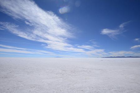 surreal landscape: a surreal landscape of infinite view of salt flat in uyuni, bolivia