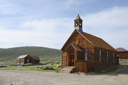 gold rush: Bodie is a historic state park of a ghost town from a gold rush era in Sierra Nevada