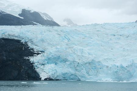 portage: blue ice of portage glacier in alaska