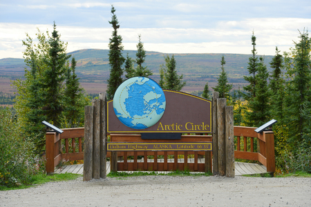 北極圏サイン 写真素材