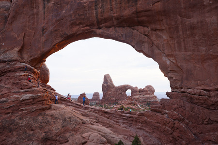 north window arch: arch window in utah