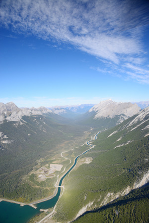 canadian rockies: aerial view of canadian rockies mountain