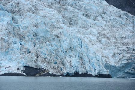 william: blue color of tidewater glacier in prince william sound in alaska