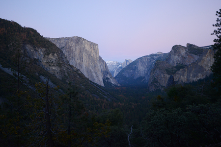 tunnel view: El Capitan at Yosemite national park tunnel view
